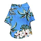 MUzoo Sommer Haustier Bedruckt Kleidung für Hunde Floral Strand Hemd Jacken Hund Mantel Welpen Kostüm Katze Frühling Kleidung Haustiere Outfits (Color : Style D, Größe : M)