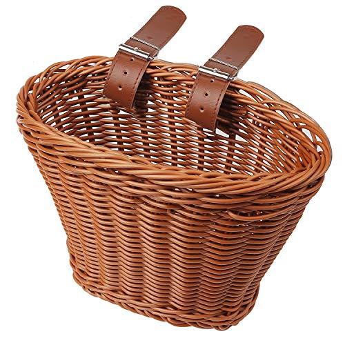 kuou Fahrradkorb für Kinder, Fahrradkorb für Vorderlenker, Gepäckkorb für Fahrrad