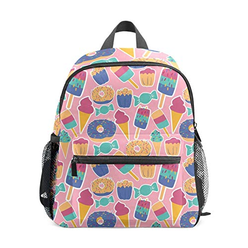 BackpackSummer Ice Cream Donuts Candies Cake Colorful Pink Print School Bags Boy Girl Daypack