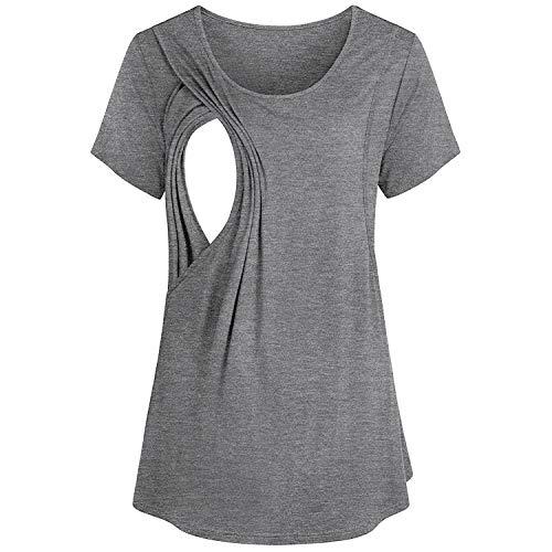 ATRISE Pregnant Shirts for Women Funny Pregnancy Cute Vest Tops Maternity Breastfeeding T-Shirt Blouse Tan Dress