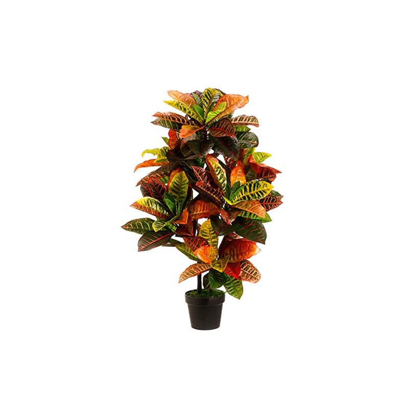 silk flower arrangements one 3 foot outdoor artificial croton palm tree uv rated potted plant