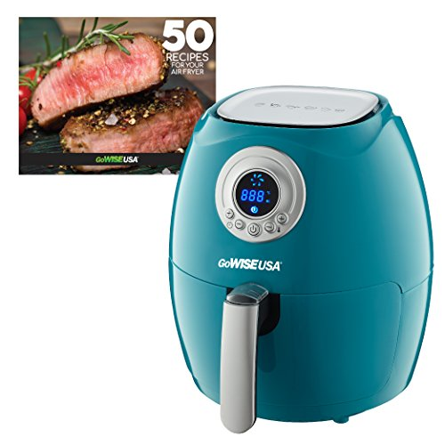 GoWISE USA GW22662 2.75-Quart Air Fryer + 50 Recipes (Teal), QT