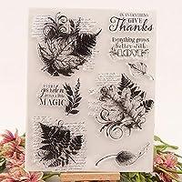葉の透明なシリコンスタンプ透明な透明なスタンプシールDIYスクラップブッキングフォトアルバムの装飾