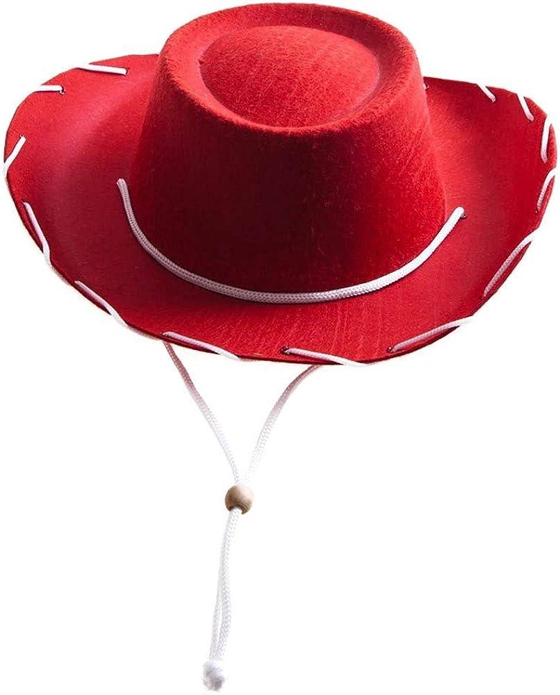 Amazon Com Century Novelty Children S Red Felt Cowboy Hat Toys Games