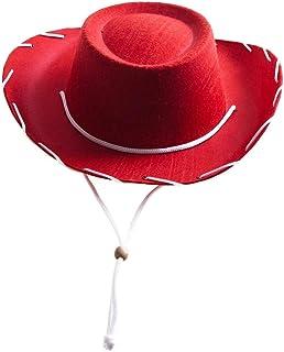 Century Novelty Children`s Red Felt Cowboy Hat