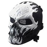 QinMM Maske Halloween Airsoft Paintball Full Face Skull Skelett Taktische militärische CS Maske...