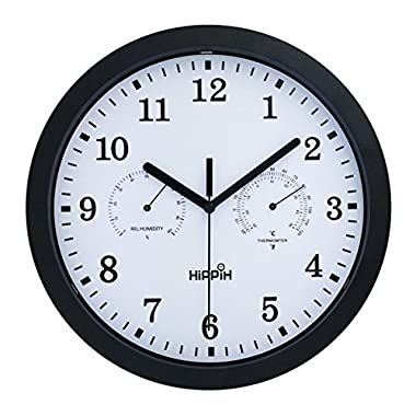 HIPPIH Silent Wall Clock,12 Inch 2311B