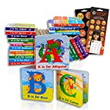 Animal ABC Board Books Set Toddlers Babies -- Pack of 24 My First Mini Board Books with Stickers (Alphabet Board Books)