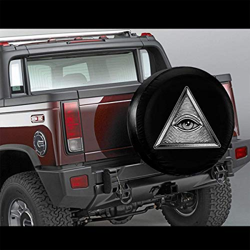 Meet You Eye Triangle - Funda protectora impermeable para neumáticos de repuesto para Jeep RV SUV y muchos vehículos