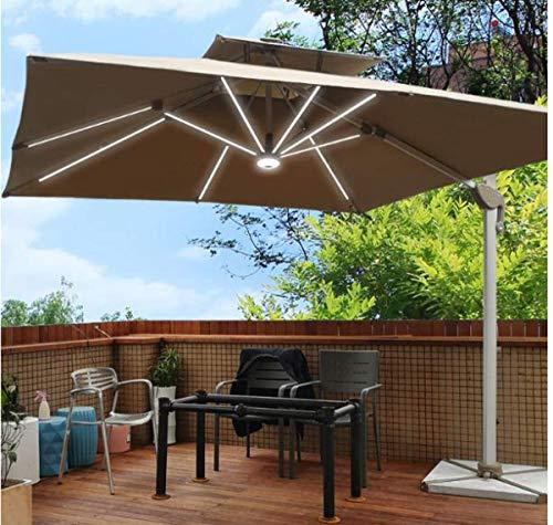 ytrew Quadratisch Sonnenschirm Gartenschirm Kurbelschirm Ampelschirm Terrassenschirm, Sonnenschirm im Freien Wasserabweisende Bespannung -Gartenschirm Marktschirm
