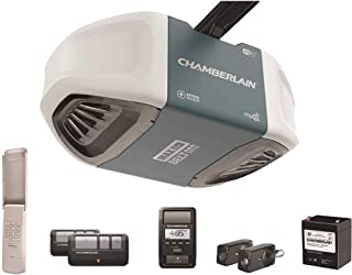 Best Chamberlain Group Chamberlain B970 Smartphone-Controlled Ultra-Quiet and Strong Belt Drive Garage Door Opener with Battery Backup and MAX Lifting Power, Blue Review