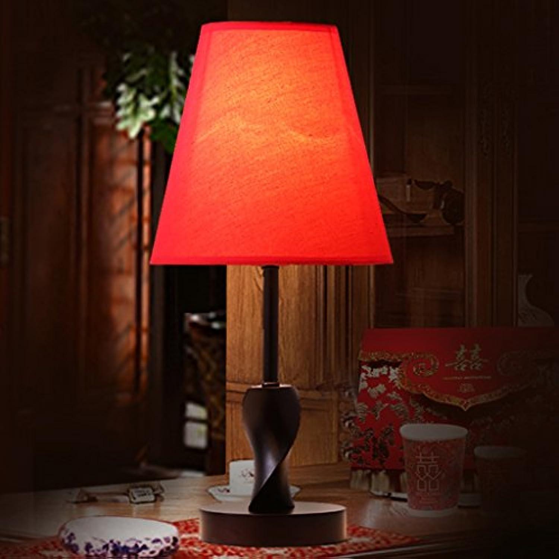 Hochzeit Einfache kreative Mode hlzerne Schlafzimmer Nachttisch Lampe Warm Lampen Wohnzimmer Beleuchtung (gre   M)