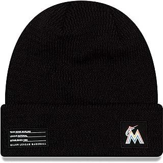 New Era Miami Marlins Beanie MLB 2018-19 On Field Sport Knit Cap Black Adult One Size