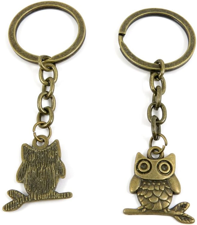 80 PCS Keyring Car Door Key Ring Tag Chain Keychain Wholesale Suppliers Charms Handmade X5KS4 Cute Owl