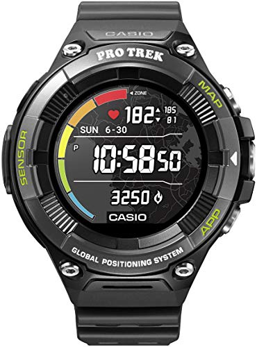 CASIO PRO TREK Smart WSD-F21HR-BKAGE Smartwatch Men Black 2019 hartslagmeter