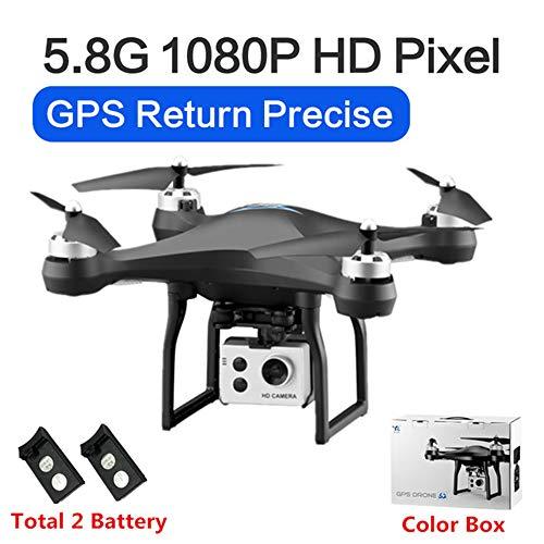 RC Drone GPS Drones met 5G WiFi 1080P HD Groothoek Elektronische camera GPS Intelligent Volgend quadcopter Vlieg 18 minuten Speelgoed, kan als cadeau aan uw kind worden gegeven,Black,2battery