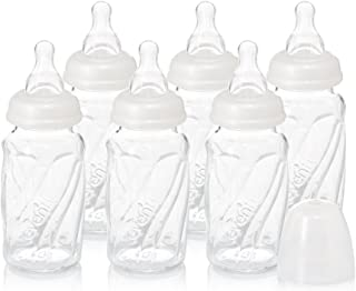 Evenflo Feeding Glass Premium Proflo Vented Plus Bottles for Baby, Infant and Newborn - Helps Reduce Colic - Clear, 4 Ounc...