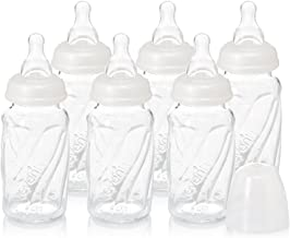 Evenflo Feeding Glass Premium Proflo Vented Plus Bottles for Baby, Infant and Newborn - Helps Reduce Colic - Clear, 4 Ounce (Pack of 6)