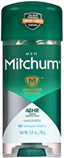 Mitchum Advanced Control Unscented Gel, Anti-Perspirant & Deodarant 3.4 oz (Pack of 8)