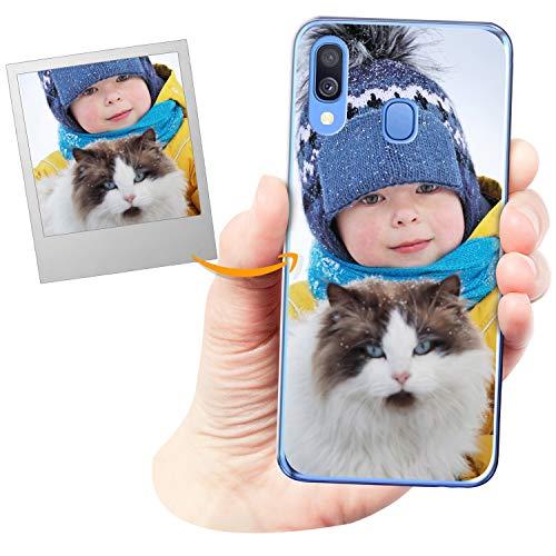 Funda Personalizada para Samsung Galaxy A40 con tu Foto, Imagen o Escritura - Estuche Suave de Gel TPU Transparente - Impresión