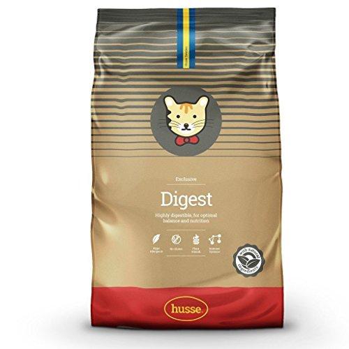 Husse - Exclusive Digest 2 Kg | Pienso Gatos | Sin Gluten | Función Gastrointestinal y Hipoalergénica | Sabor Cordero y Salmón Ingredientes
