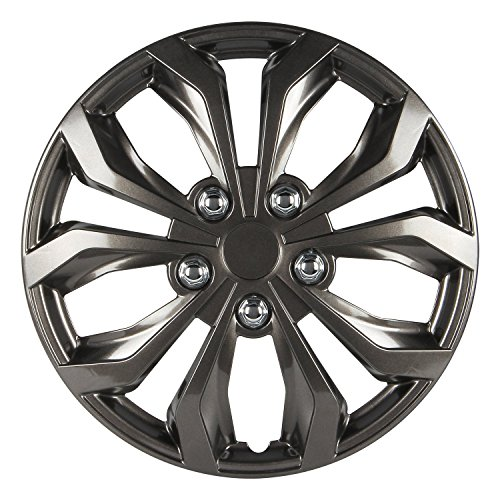 Pilot Automotive WH555-16GM-B Universal Fit Spyder Wheel Cover...