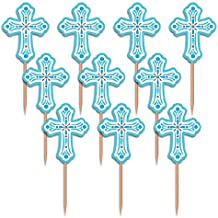Amscan 400082 013051544928 Party Pick Religious Blue Pack of 36, As Shown