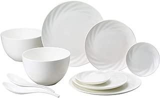 NARUMI(ナルミ) 食器 セット Styles(スタイルズ) 白 10個セット 電子レンジ温め 食洗機対応 96883-23239