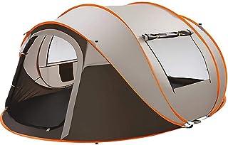テント ワンタッチ ポップアップテント キャンプテント 通気性 UVカット 防風 テント 自動組立 防水 蚊対策 軽量 コンパクト アウトドアテント 3~4人用/5-8人用 アウトドア用品 収納袋付き