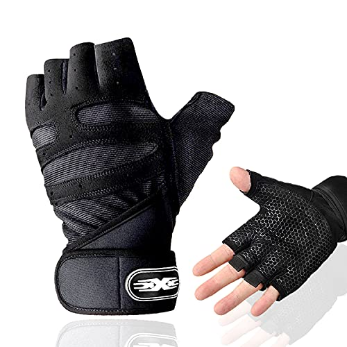 Maxee Fitness Handschuhe,Trainings Handschuhe für Damen und Herren,Workout Lifting Glove,Handschuhe mit Handgelenkstütze,Atmungsaktive rutschfeste Trainingshandschuhe Sport