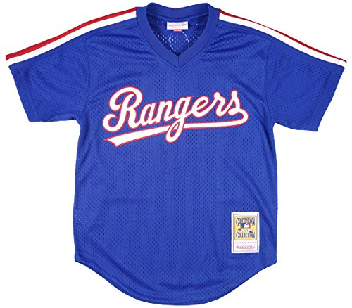 Mitchell & Ness Nolan Ryan Blue Texas Rangers Authentic Mesh Batting Practice Jersey (X-Large)