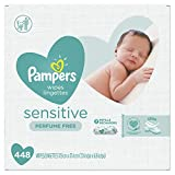 Pampers Baby Wipes Sensitive Perfume Free 7X Refill Packs (Tub Not Included) Multi unscented 448 Count