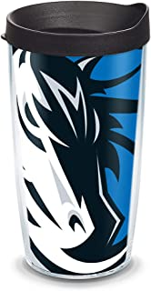 Tervis NBA Dallas Mavericks Colossal Tumbler with Wrap and Black Lid 16oz, Clear