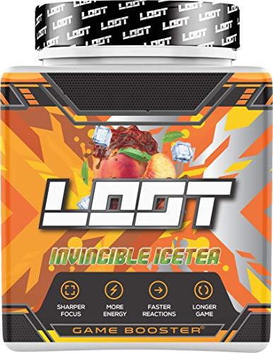 NEU | LOOT® - Premium Game Booster mit Flow State | 50 Servings (400g) mit Koffein | 20 hochdosierte Inhaltsstoffe | Unique Design | Konzentration - Ausdauer - Reaktionsfähigkeit | Invincible Icetea