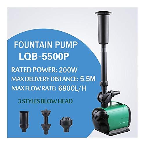 MINGMIN-DZ Dauerhaft 3500L / H Hochleistungs-Brunnen-Wasser-Pumpen-Brunnen-Maschine Teich Pool Garten Aquarium Wasser Circulate & Luftsauerstoff erhöhen (Size : 200W 6800LH)