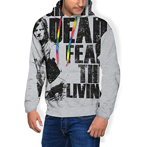 Walking Dead Daryl Fight The Dead Fear The Living Herren-Sweatshirt, Kapuzenpullover, Taschen, Samt Gr. Small, Schwarz