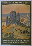 Unbekannt Poster Normandie Bretagne, Reproduktion, Format