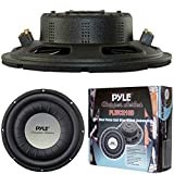 SUB SUBWOOFER ULTRA SLIM PYLE PLWCH10D PLWCH 10D BLACK OF 25,00 CM 10' 250 MM OF DIAMETER 500 WATTS RMS AND 1000 WATT MAX DUAL COIL 4 + 4 OHM FOR NARROW LODGINGS FOR CHEST LUGGAGE VAN OR PANEL CAR WITH REDOUBT DEPTH' ONLY 7,70 CM