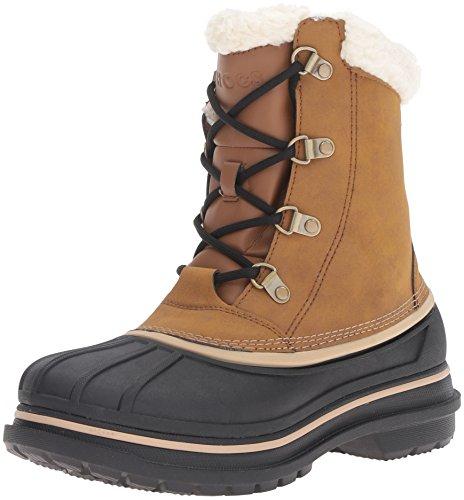 crocs Men's AllCast II Snow Boot, Wheat/Black, 9 M US
