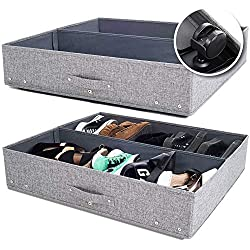 2 grey storage containers with handle