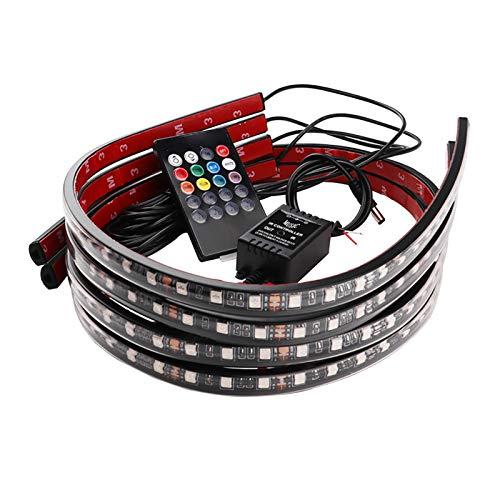 Auto LED Streifen Licht Unterboden Neon Light LED Streifen unter Auto Fahrzeugröhre Unterbodenbeleuchtung Neonlicht-Fernbedienung, DC 12V
