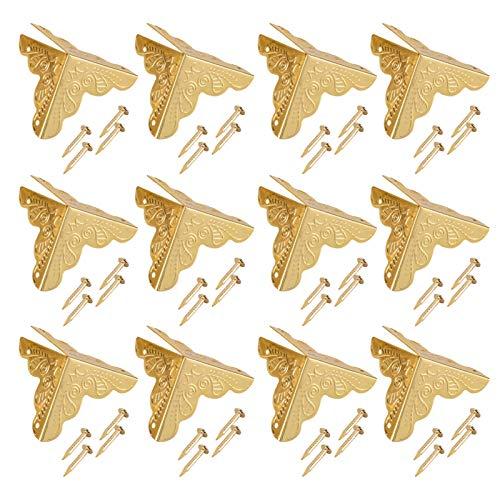 Cubierta de borde, protector de decoración de esquina de seguridad con tornillos para oficina para decoración(oro, 12)