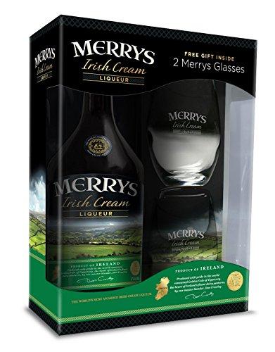 Merrys Irish Cream Liqueur mit 2 Gläser Geschenkverpackung (1 x 0.7 l)