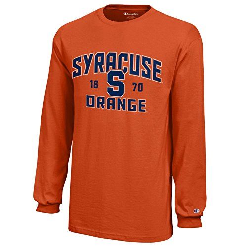 NCAA Champion Boy's Long Sleeve Jersey T-Shirt Syracuse Orange Medium