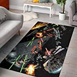 Millennium-Falcon Rugs for boy Bedroom Non-Slip Gaming Mat for Bedroom Kids Play Carpets Nursery 3x5 4x6 5x8 ft Youset Decoration (3x5 ft, Millennium-Falcon 05)