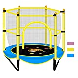 Jesse Trade 59' Trampoline for Kids - 5ft Outdoor & Indoor Mini Toddler Trampoline with Enclosure, Birthday Gifts for Kids, Gifts for Boy and Girl, Baby Toddler Trampoline Toys(Blue)