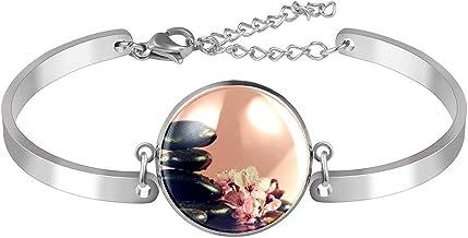 Verstelbare armband unieke Zen Chinese Spa voor vrouwen Roestvrij staal