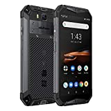 Rugged Phones Ulefone Armor 3W, IP68 Waterproof Cell Phone Unlocked, Android 9.0 10300mAh Big Battery, Dual 4G 5.7 Inch FHD+, 21MP+8MP Helio P70 6GB + 64GB Glonass+GPS Shockproof Dustproof (Black)