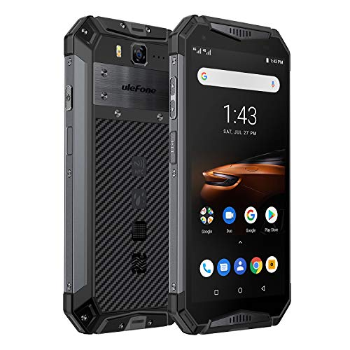 Rugged Phones Ulefone Armor 3W(2019), IP68 Waterproof Cell Phone Unlocked, Android 9.0 10300mAh Big Battery, Dual 4G 5.7 Inch FHD+, 21MP+8MP Helio P70 6GB+64GB Glonass+GPS Shockproof Dustproof (Black)