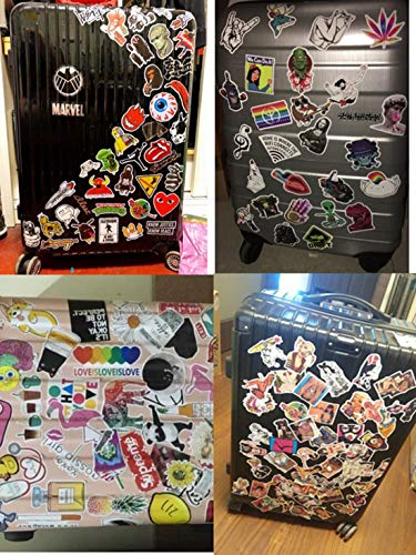 AllRing 100 Pieces Waterproof Sticker Vinyl Stickers Graffiti Decals for Car Motorcycles Bicycle Skateboard Snowboard Luggage Laptop Computer Stickers